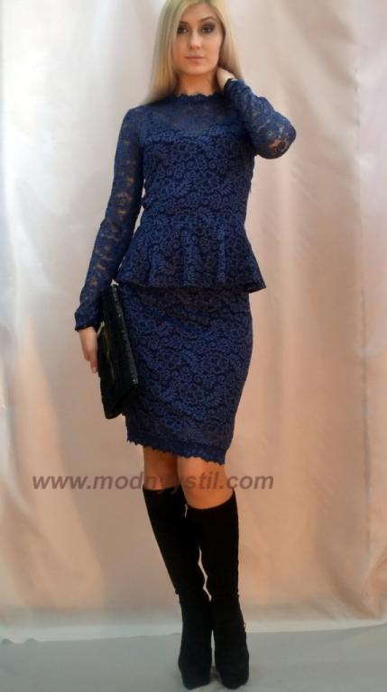 Костюм платье с баской фото